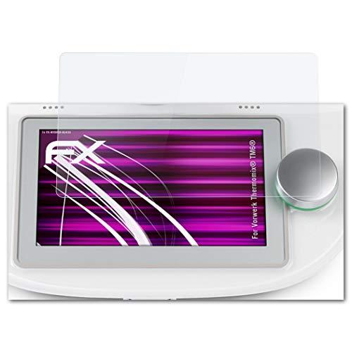 atFoliX Glasfolie passend für Vorwerk Thermomix® TM6®, Panzerfolie 9H Hybrid-Glass FX Schutzpanzer Folie