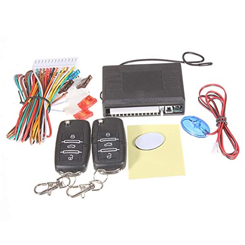 Funnyrunstore para VW Auto Door Lock Vehicle Sistema de entrada sin llave Auto Car Remote Central Kit Sistema antirrobo Auto Alarm Engine (negro)