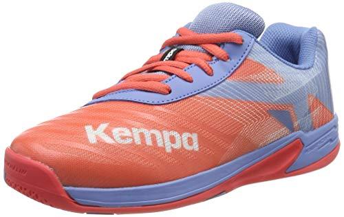 Kempa Wing 2.0 Junior, Scarpe da Pallamano Unisex-Bambini, Multicolore (Coral/Lilac Grau 02), 33 EU