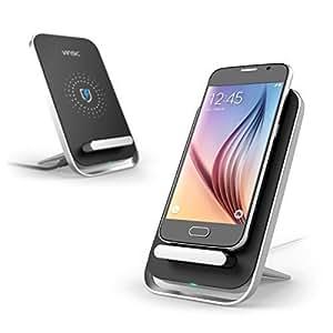 Chargeur sans Fil, Vinsic® Chargeur Pad sans fil Chargeur à Induction pour Samsung Galaxy Note 5/S6/S6 Edge/S6 Edge+, Nexus 6, Nokia Lumia 950xl/950, MOTO Droid Maxx, HTC and Other Qi Enabled Device with US Plug
