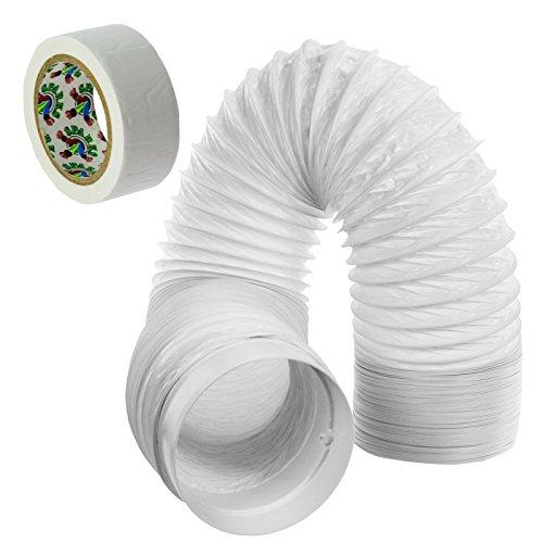 SPARES2GO Schlauch auspuffventilator Rohr PVC Extension Kit für Freizeit Kocher Haube (6m, 5 Zoll)