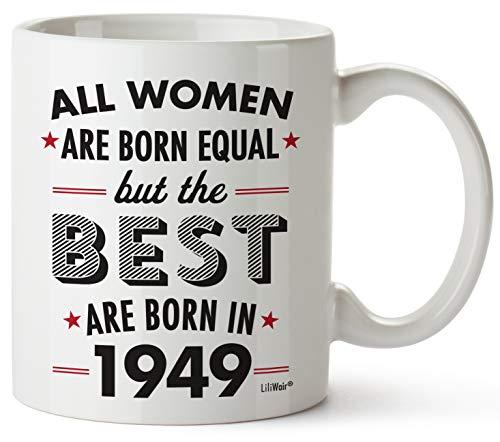 Kaffeebecher zum 70. Geburtstag für Frauen, Siebzigjährige Geschenktasse Happy Funny 70 Frauen Frauen Frauen Frauen Frau Best Friend 1949 einzigartige Ideen 49 Frau Gag Dad Cute Girls Good Husband (Geburtstag Ideen Dirty 30)