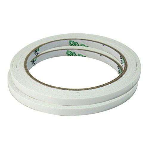 2X Bande Ruban Adhesive Papier Double Face 6mm*18m Utilisation Bureau Famille