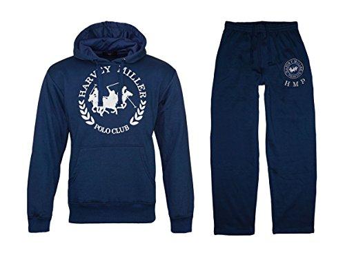 366ec6b40 Harvey Miller Polo Club Anzug Herren Jogginganzug Trainingsanzug HRM 4060  Set Blau, Größenauswahl:XL