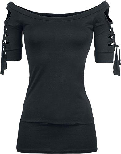 Outer Vision Kork Girl-Shirt schwarz Schwarz