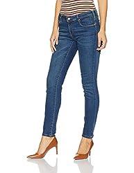 Allen Solly Womens Skinny Jeans (AWDN316C05725_Medium Blue Solid_36)