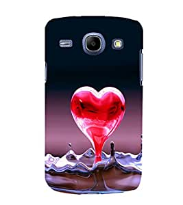 printtech Heart Water Design Back Case Cover for Samsung Galaxy A7::Samsung Galaxy A7 A700F