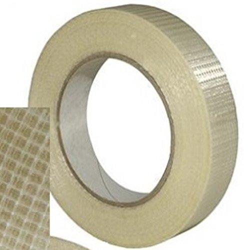1-roll-of-1-inch-wide-extra-strong-crossweave-fibreglass-reinforced-filament-tape-25mm-wide-x-50-met