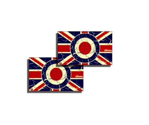 Union Jack Rondell Aufkleber (2Stück)