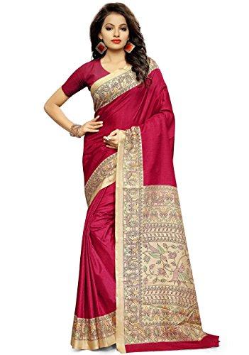 Miraan Kora Silk Saree (Mt1005Red_Red)