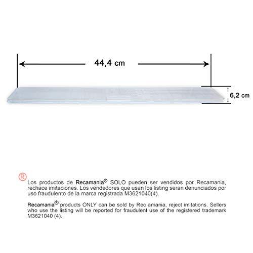 Cristal luz campana extractora Teka 62X444mm
