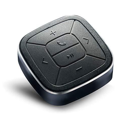 TUNAI Button- Bluetooth Fernbedienung Auto Media Button fürs Lenkrad zum Musiksteuern, Telefonieren, und mehr- kompatibel mit iPhone and Android Smartphones