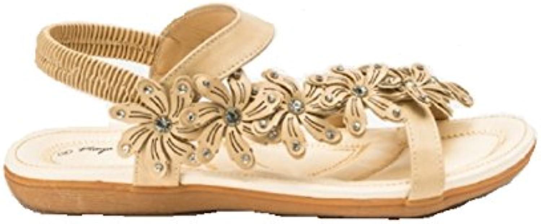 5656f2fe11367 GladRags Women s Ladies Flower Sandals Beach Summer Summer Summer Shoes  Size 3 4 5 6 7