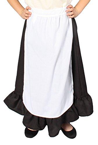 Alexanders Kostüme Mädchen Schürze, eine Größe, weiß