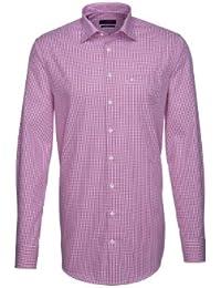 Seidensticker Hemd Splendesto pink weiß kariert extralange Ärmel / 185905.45
