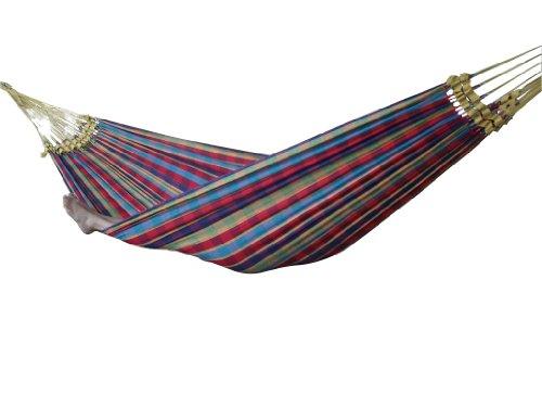 Vivere BRAZ123 Amaca Brasiliana, Cotone, 200 x 140 cm, Multicolore Paradiso Solo