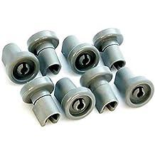 Kit ruedas rueda cesta superior Lavavajillas para Rex AEG Electrolux 8unidades)