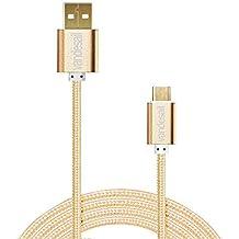 VANDESAIL® Cables USB 3.1 Tipo C, USB 3.0 USB2.0 Convertidor Adaptador de Cable Con el oro Plateado Plug Reversible para Apple nuevo MacBook de 12 inch, Nokia N1, tableta, teléfono móvil y Otro (0.5m/ 1.6ft, Oro)