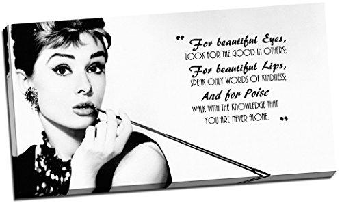 Panther Print Kunstdruck auf Leinwand, Audrey Hepburn, Zitat, groß, 76,2 x 40,6 cm [nicht in deutscher Sprache]