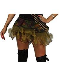 "Army 12"" Tutu female fancydress (tutu only) [standard]"