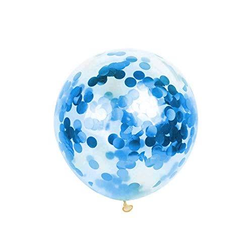Festnight Konfetti Ballons 12 Zoll Riesige Metallische Gefülltes Rundes Elegantes Latex Party Ballon Transparent Magischer Ballon Glitter Pailletten Für Valentines Bday Bachelorette Graduation