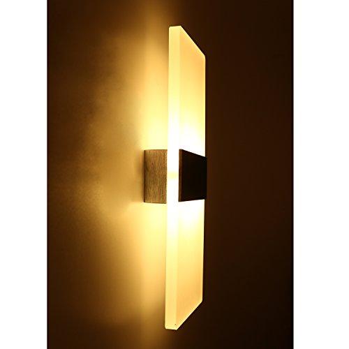 Topmo-plus 12W Wandlampe LED Wandleuchten ideal für Schlafzimmer,Wohnzimmer, Treppenhaus und...