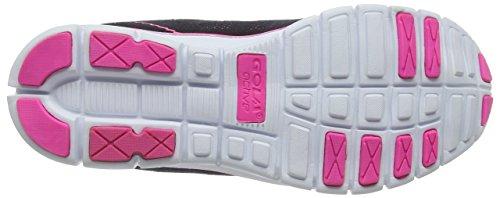 Gola Tempe, Scarpe Sportive Indoor Donna Nero (Black/hot Pink)