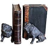 Serre livre bouledogues avec vieux livre