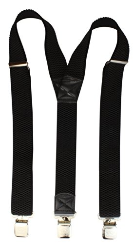 Bretelles pour Femmes / Hommes avec 3 pinces solides et 40mm de largeur dans 16 couleurs noir,gris, bleu, rouge uvm