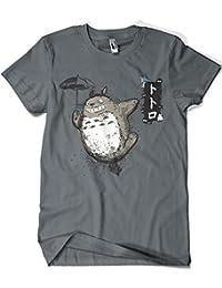 Camisetas La Colmena 1087-Camiseta Totoro - Flying With My Neighbor (Dr.Monekers)