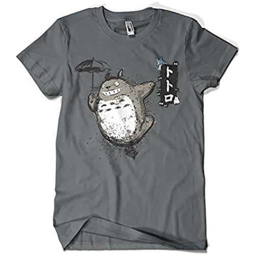 1087-Camiseta Totoro - Flying With my Neighbor (Dr.Monekers)