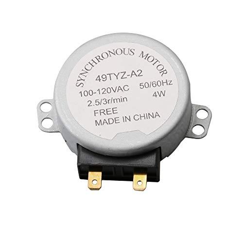 BQLZR RMOTDA252WRZZ Drehteller-Motor, Ersatzteil für Mikrowelle, 120 V, 3 U/min, 60 Hz, 2 W, für Sharp ersetzt R1214 R15HW R203FW R203FW R206FW R209FW R214FW