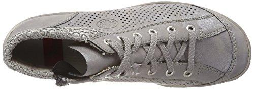 Rieker M3737, Sneaker a Collo Alto Donna Grigio (Steel/staub-silber)