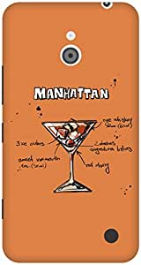 The Racoon Lean Amber Manhattan hard plastic printed back case / cover for Nokia Lumia 1320