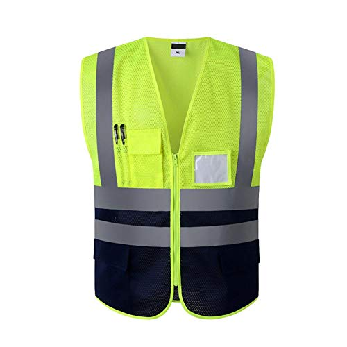 Global Glove GLO-079 FrogWear HV 5X-Large High-Visibility Mesh Polyester Surveyors Safety Vest