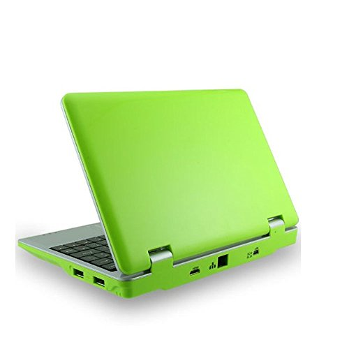 Soledpower® 7-Zoll-Android 4.1 Mini Laptop Notebook Computer 512 MB RAM 4 GB Festplatten VIA8850 Processor HDMI-Ausgang Frontkamera Unterstützung Google Play Store SD-Karte, Grüne Farbe Wvga Windows