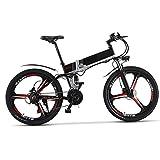Wheel-hy Elettrica Pieghevole Bicicletta Mountain elettrica Bici Unisex MTB TP860 36V*13Ah Batteria 7 Livelli di Pedale assistita velocità Tachimetro 35-50KM Ciclisimo Distanza