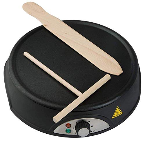 Crepes Maker 1000W Crepe pfanne Platte Pfannkuchen-Pfanne Omelette Teigverteiler
