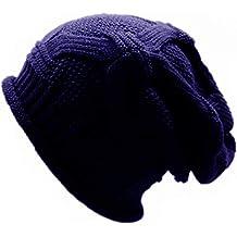 OVINEE Sombrero de Lana de Invierno para Hombres y Mujeres Sombrero de  Punto de Rayas de 1b5d0cbef45f