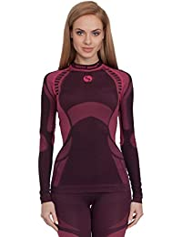 Sesto Senso Damen Funktionsunterwäsche langarm Shirt Thermoaktiv