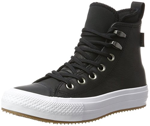 Converse 557944C,Chuck Taylor All Star WP Boot, Damen Hohe Sneaker, Schwarz (Black/Black/White), 37 EU (4.5 UK) (Converse Leder High Heels)