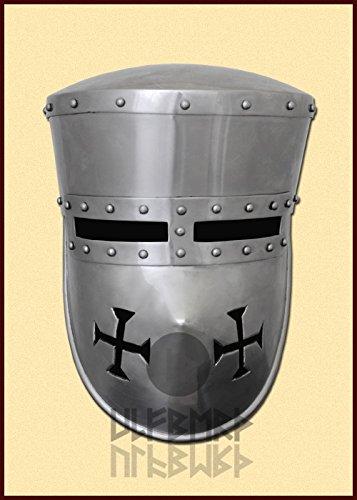 Preisvergleich Produktbild Schaukampftauglicher Kreuzritter Helm Paladin Mittelalter LARP Wikinger Größe M oder L (L)