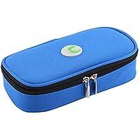 Estuche de insulina, bolsa de refrigerador diabética portátil de 3 colores, refrigerador de medicamentos para diabéticos a prueba de agua para viajar, bolsa de hielo no incluida(Azul)