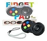 digitCUBE Fidget Pad Controller für Kinder - Spielspass auch Unterwegs - Spielzeug für Junge Mädchen Geburtstag (Schwarz)