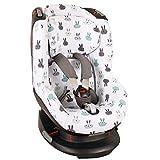 Bezug Maxi-Cosi Tobi Kindersitz  Weiß Kaninchen  Schweißabsorbierend und weich für Ihr Kind  Schützt vor Verschleiß und Abnutzung  Öko-Tex 100 Baumwolle