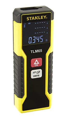 Stanley Laser-Entfernungsmesser TLM65 (20 m Reichweite, Ein-Knopf-Bedienung, automatische Abschaltung) STHT1-77032 (Laser-mess-gerät)