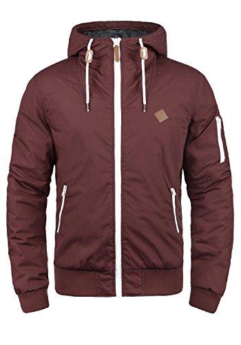 !Solid Tilly Herren Übergangsjacke Herrenjacke Jacke Mit Kapuze, Größe:XL, Farbe:Wine Red (0985)