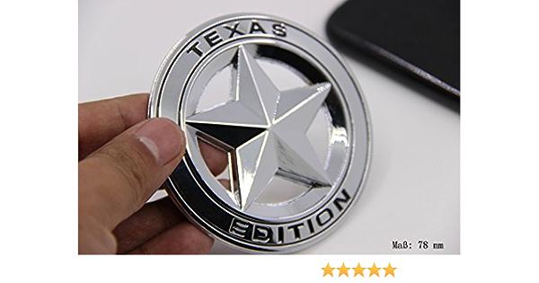 E859 Texas Edition Emblem Zeichen Badge Fünfzackigen Stern Auto Abziehbild Aufkleber Car Sticker Auto