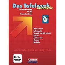 Das Tafelwerk interaktiv - Allgemeine Ausgabe: Schülerbuch mit CD-ROM