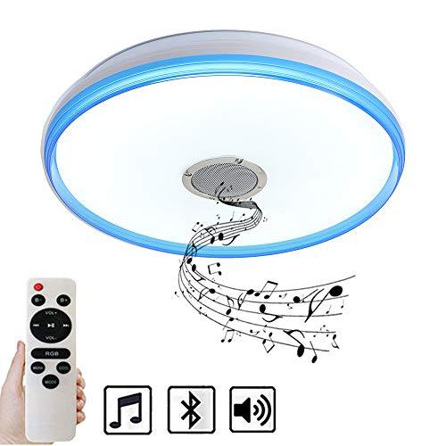 Natsen® Bluetooth Deckenlampe 36W LED Deckenleuchte mit Bluetooth Lautsprecher dimmbar mit Fernbedienung (50 * 7cm)
